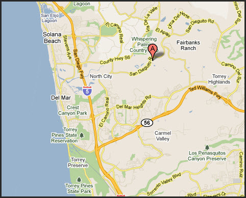 Map of Carmel Valley 92130