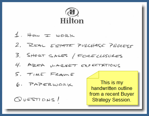 Handwritten Outline From Recent Globella Buyer Strategy Session